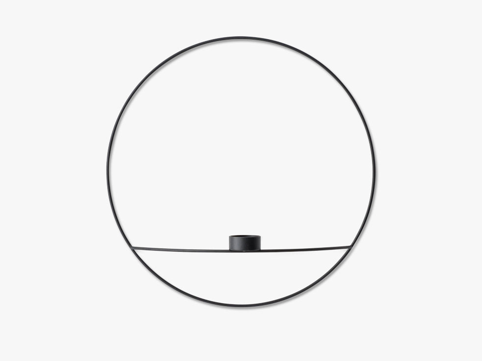 POV Circle, Tealight Candleholder, L, Black fra Menu