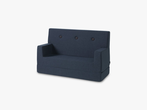 KK Kids Sofa, Dark Blue w. black buttons fra By KlipKlap