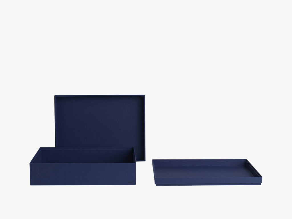 Tray Box - Dark Blue - Rectangular - A4 fra Nomess Copenhagen