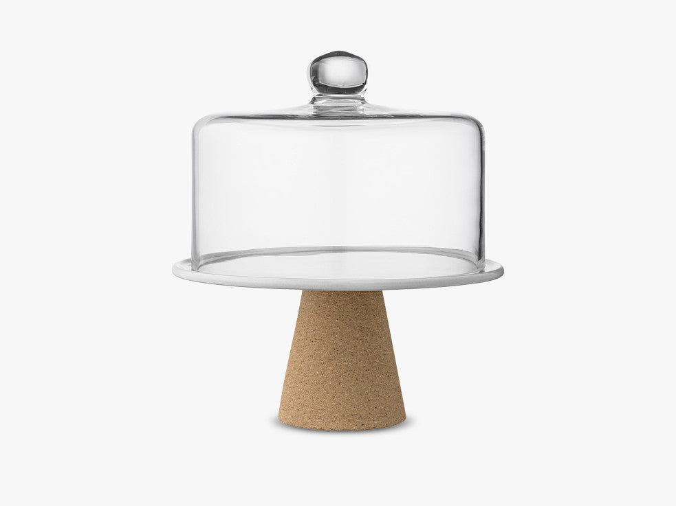 Cakestand, Grey, Glass fra Bloomingville