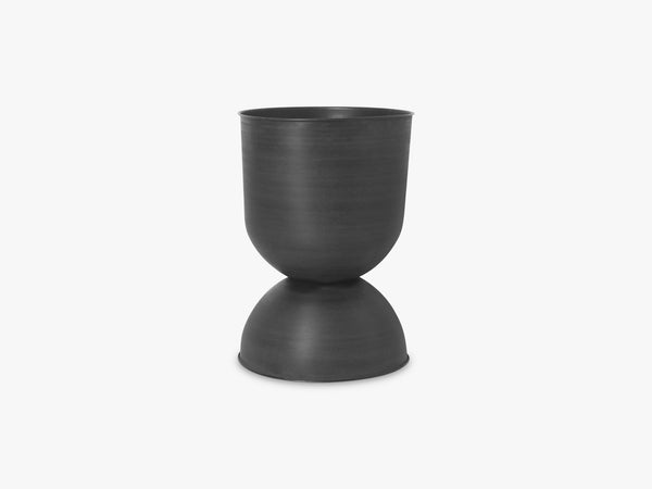 Hourglass Pot - Large - Black/Dark Grey fra Ferm Living