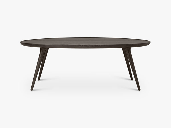 Accent Oval Lounge Table W: 80, Sirka Grey Stained Oak fra Mater