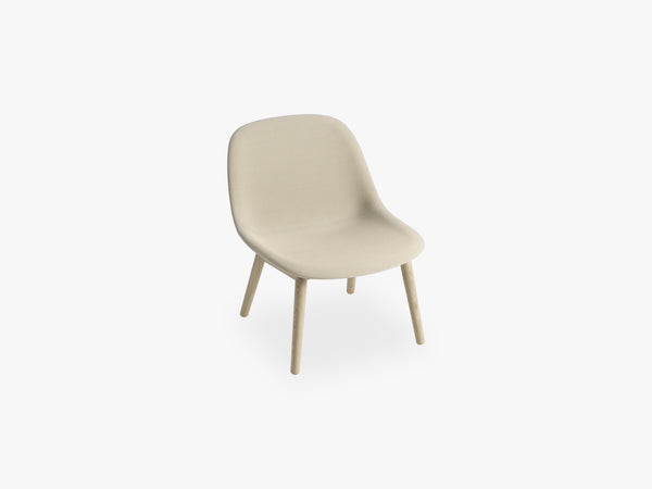 Fiber Lounge Chair - Wood Base, Steelcut Trio 236 fra Muuto