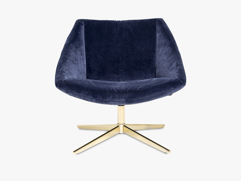 Elegant Chair, Blue w/Gold fra Bloomingville