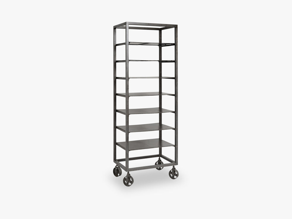 RAW iron rack w/removable metal shelves fra Nordal