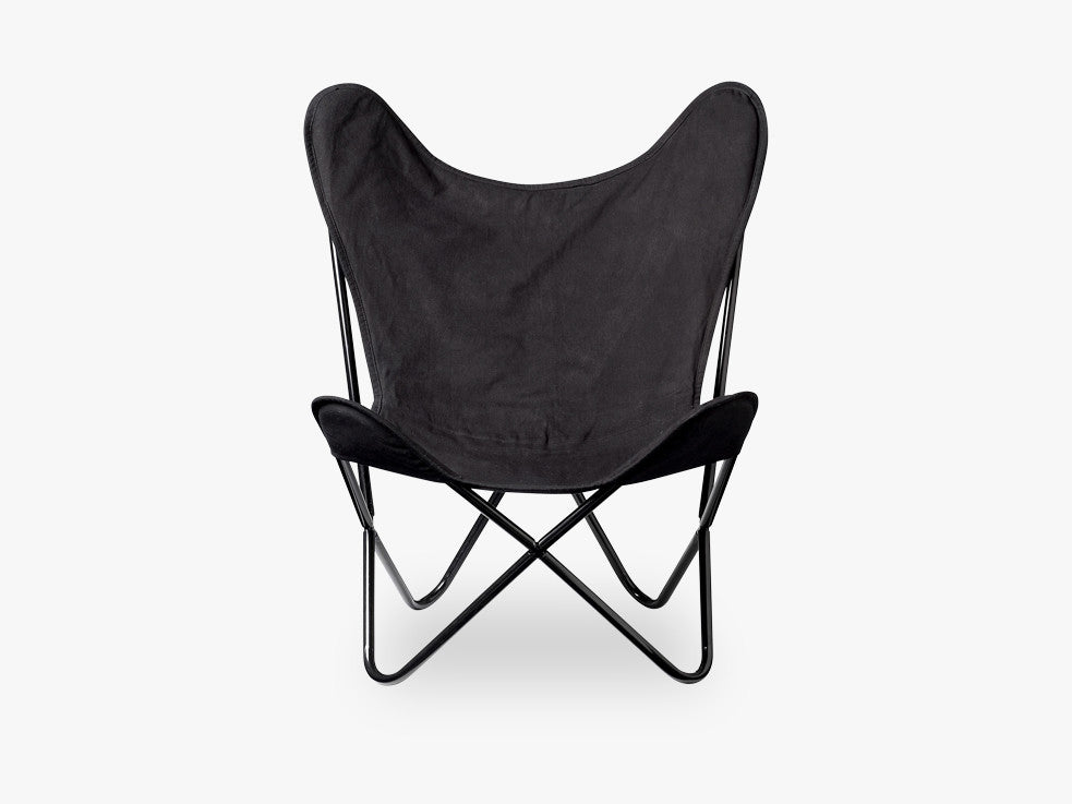 Butterfly Chair, Black, Cotton fra Bloomingville