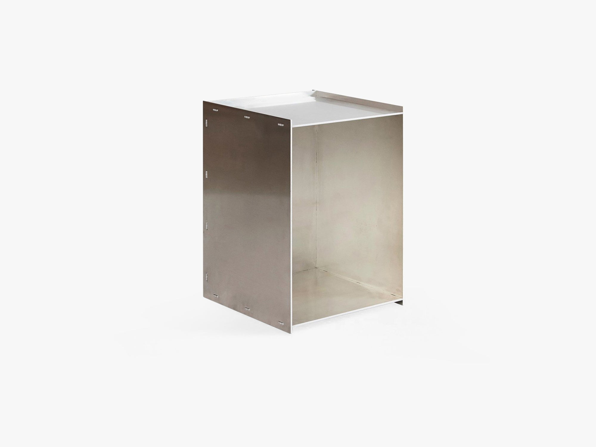 Rivet  Box Table, Untreated Aluminium fra FRAMA