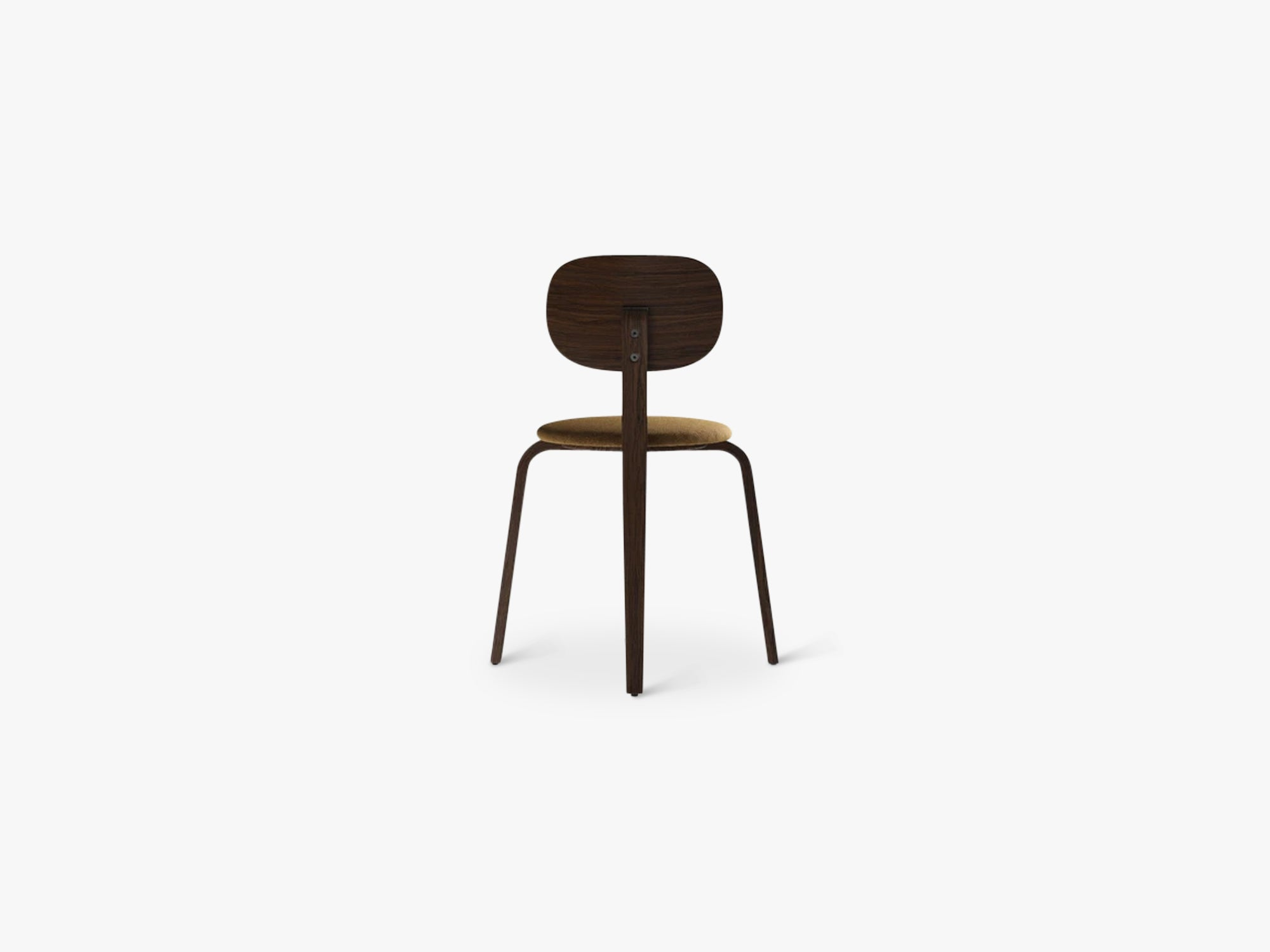 Afteroom Plywood Chair, Dark Stained Oak/Dark Stained Oak/Moss 022 fra Menu
