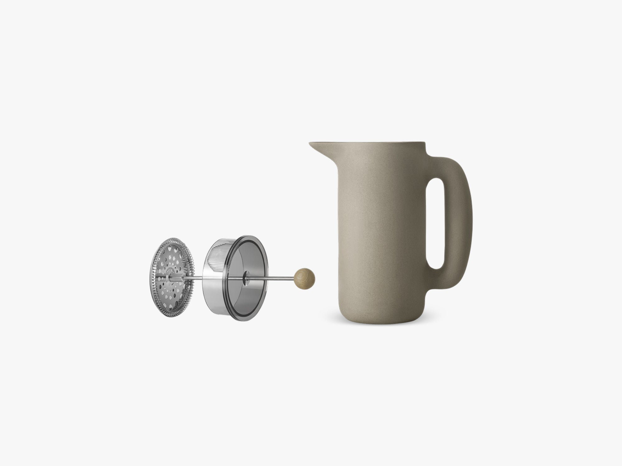 Push Coffee Maker, Stone Grey fra Muuto