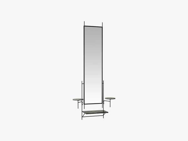 Wall Mirror, Green Forest marble fra Fritz Hansen