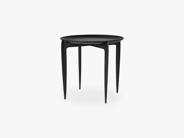 Foldable Tray Table, Black - Ø45 fra Fritz Hansen