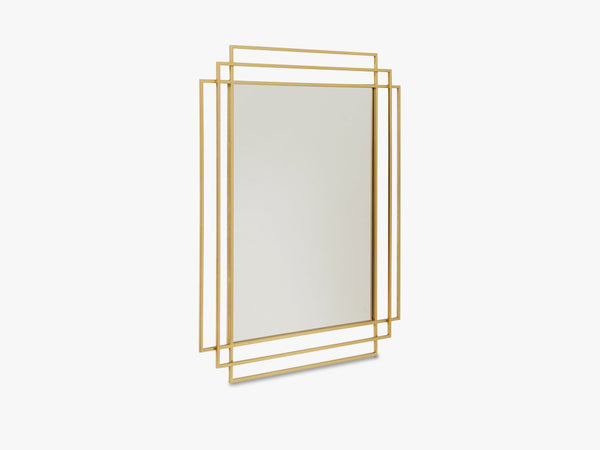 SQUARE mirror, gold finish fra Nordal