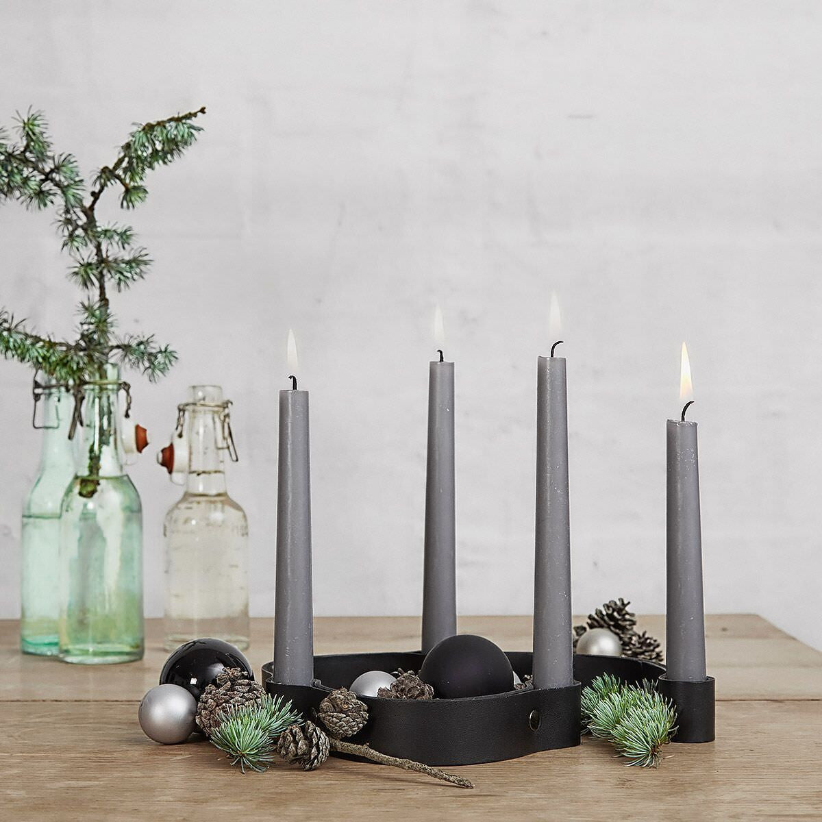 Belt 4 Candles Black fra By Wirth