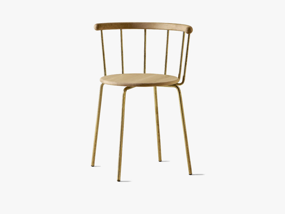 Babette Spisestuestol, Brass & Oak fra Eberhart Furniture