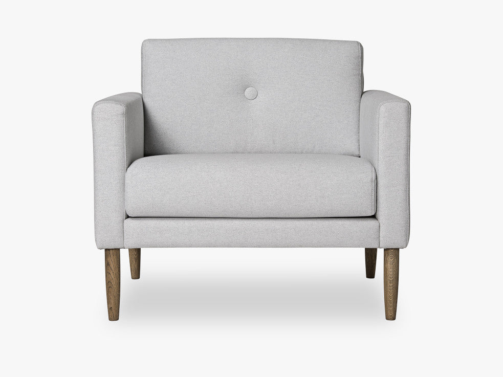 Calm Chair, Light Grey w/Smoked Oak fra Bloomingville