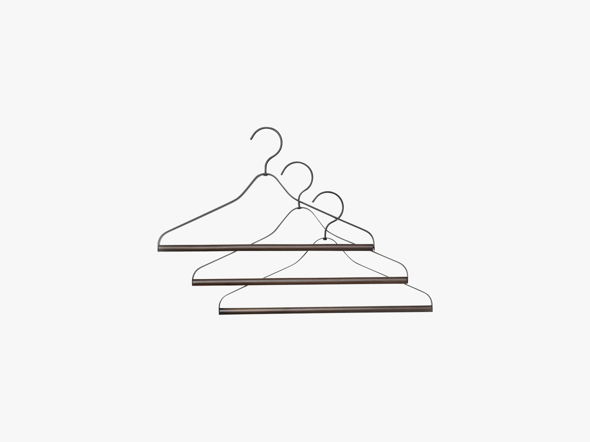 Coat Hanger - Black (set of 3) fra Ferm Living