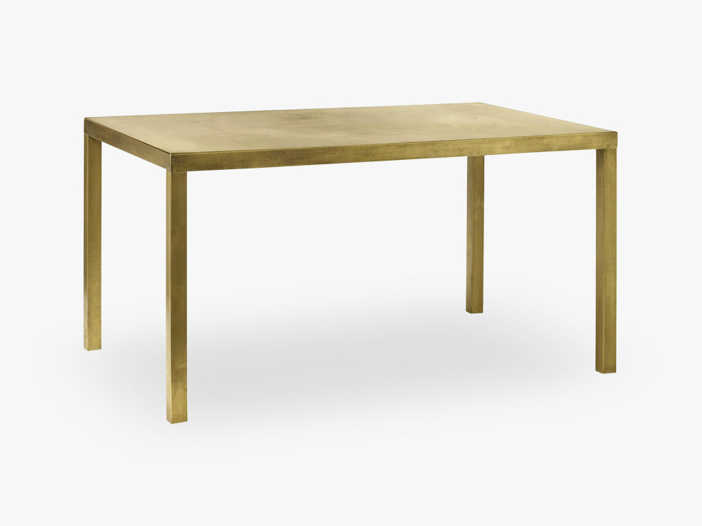 Golden dinner table, metal, small fra Nordal