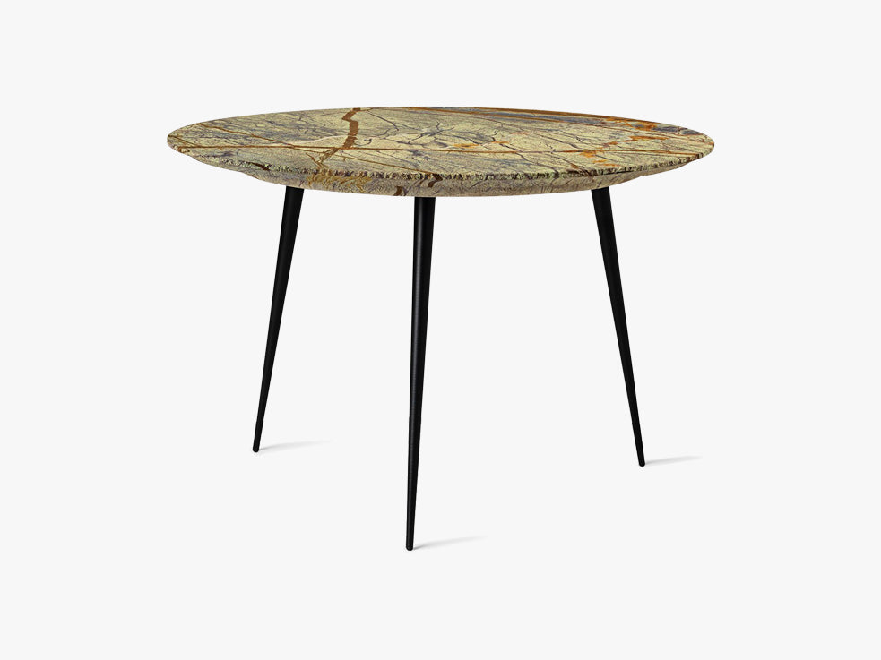 Disc Side Table Ø: 50, Marble - Jungle Green fra Mater