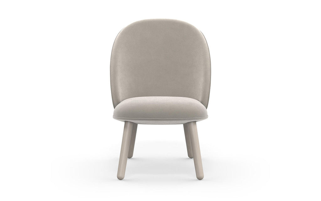 Ace Lounge Chair Velour - Beige fra Normann Copenhagen