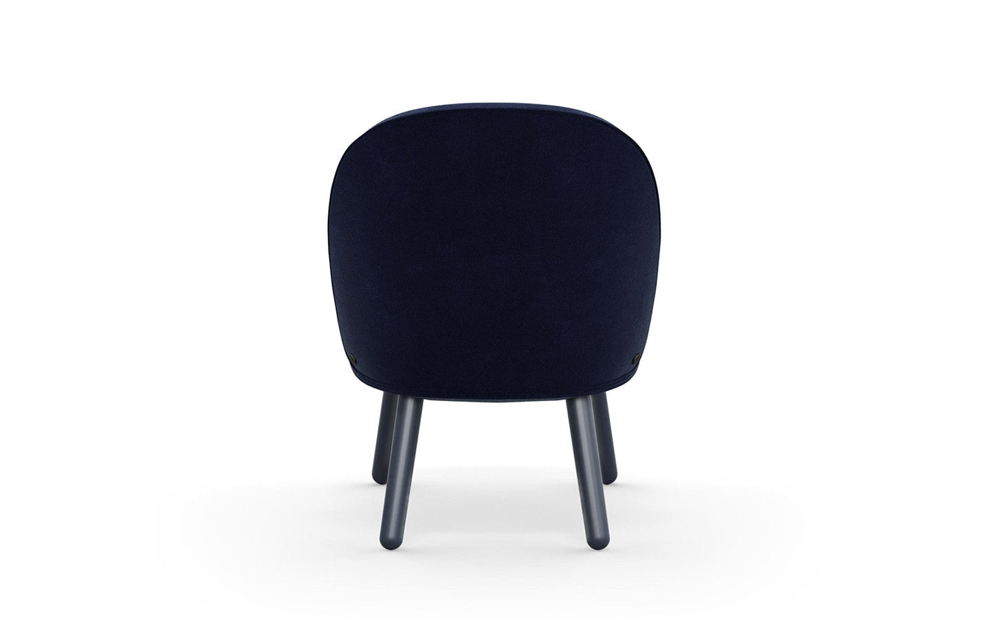 Ace Lounge Chair Velour - Dark Blue fra Normann Copenhagen