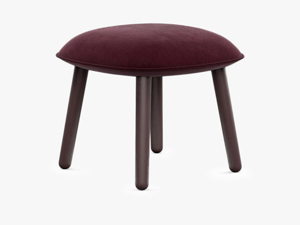 Ace Footstool Velour - Dark Red fra Normann Copenhagen
