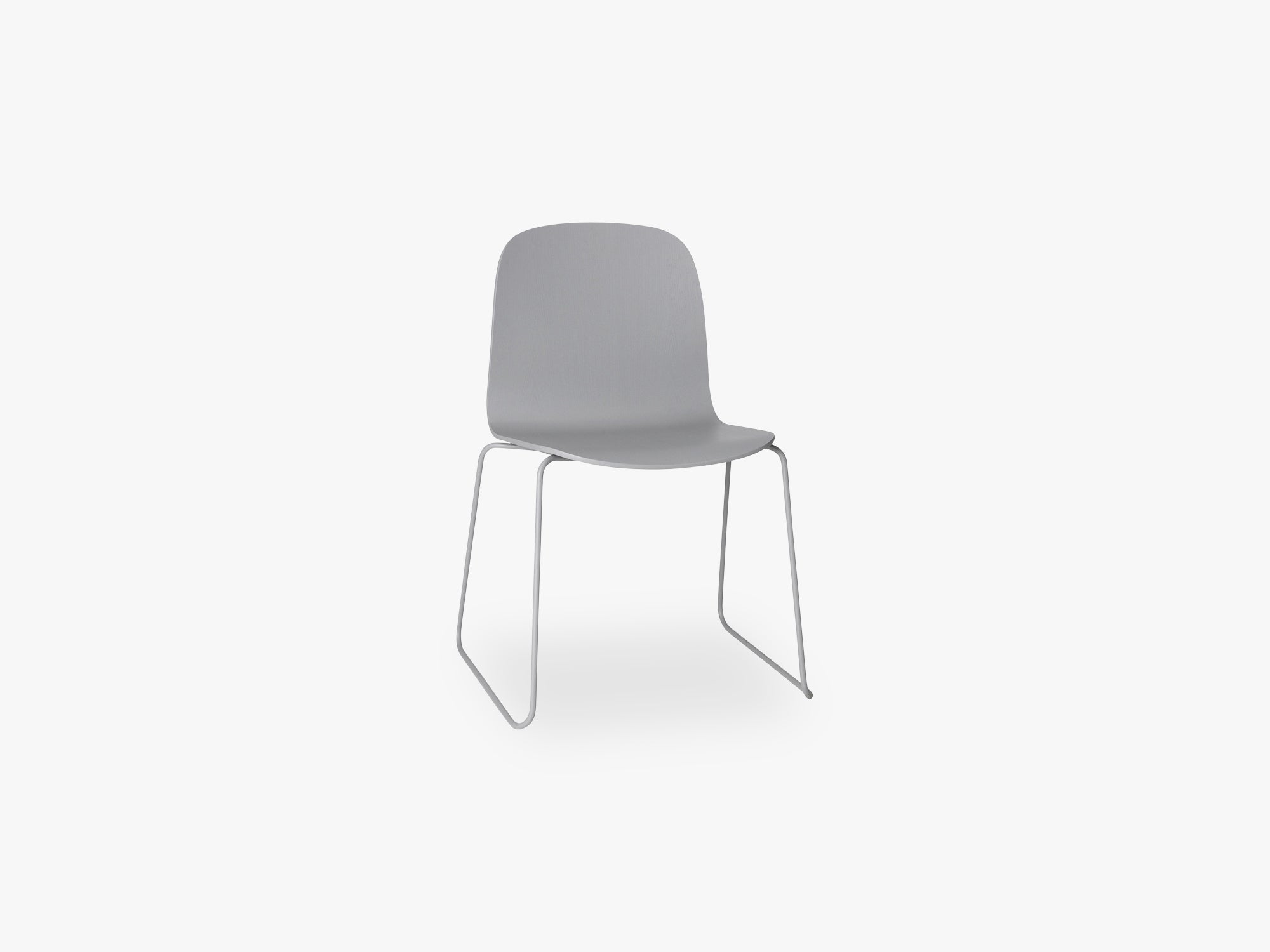 Visu Chair - Sled Base - Wood Shell, Grey fra Muuto