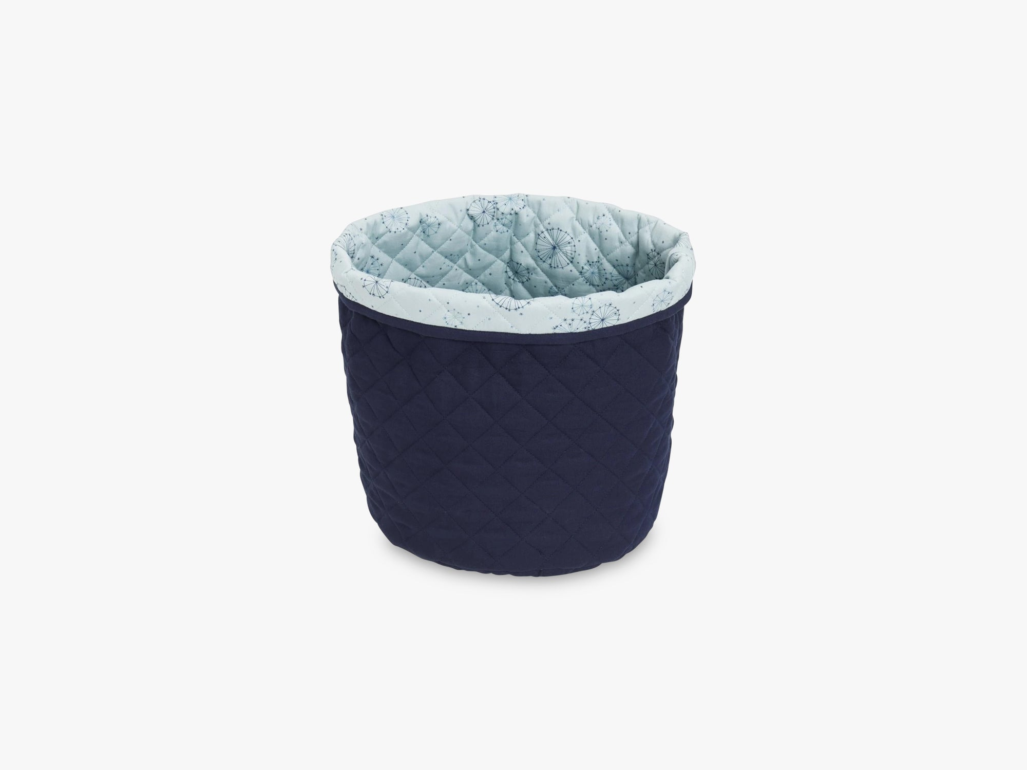 Quilted Storage Basket Medium, Navy fra Cam Cam Copenhagen