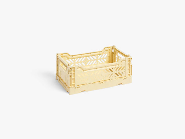 Colour Crate Small, Light Yellow fra HAY