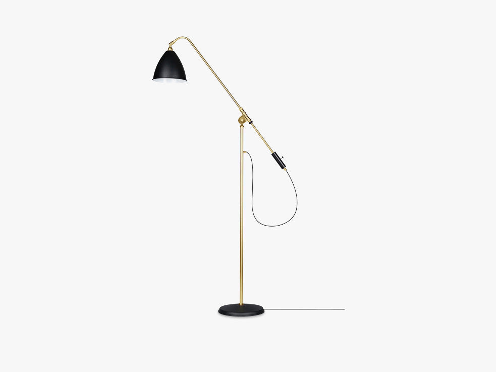 Bestlite BL4 Floor Lamp - Ø21 - Brass Base, Charcoal Black fra GUBI