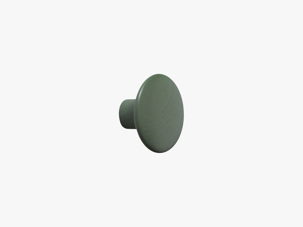 The Dots Coat Hooks / Small, Dusty Green fra Muuto