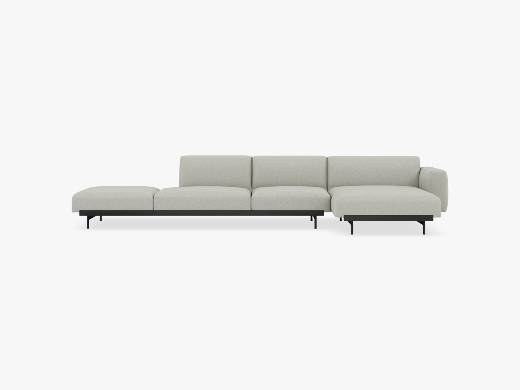In Situ Modular Sofa, 4 Seater, Configuration 4, Clay fra Muuto