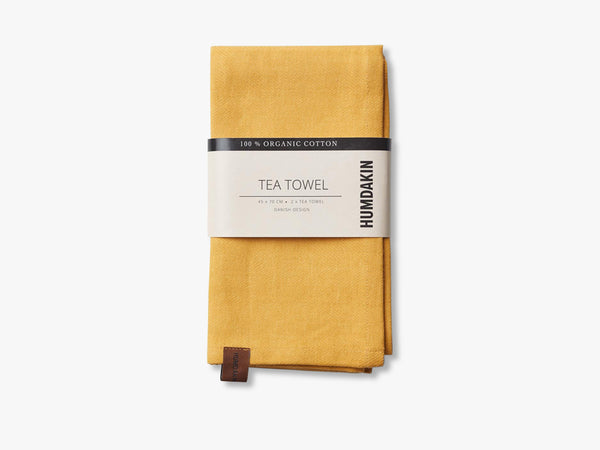 Organic tea Towels, Yellow Fall fra HUMDAKIN
