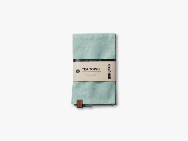 Organic Tea Towels, Dusty green fra HUMDAKIN