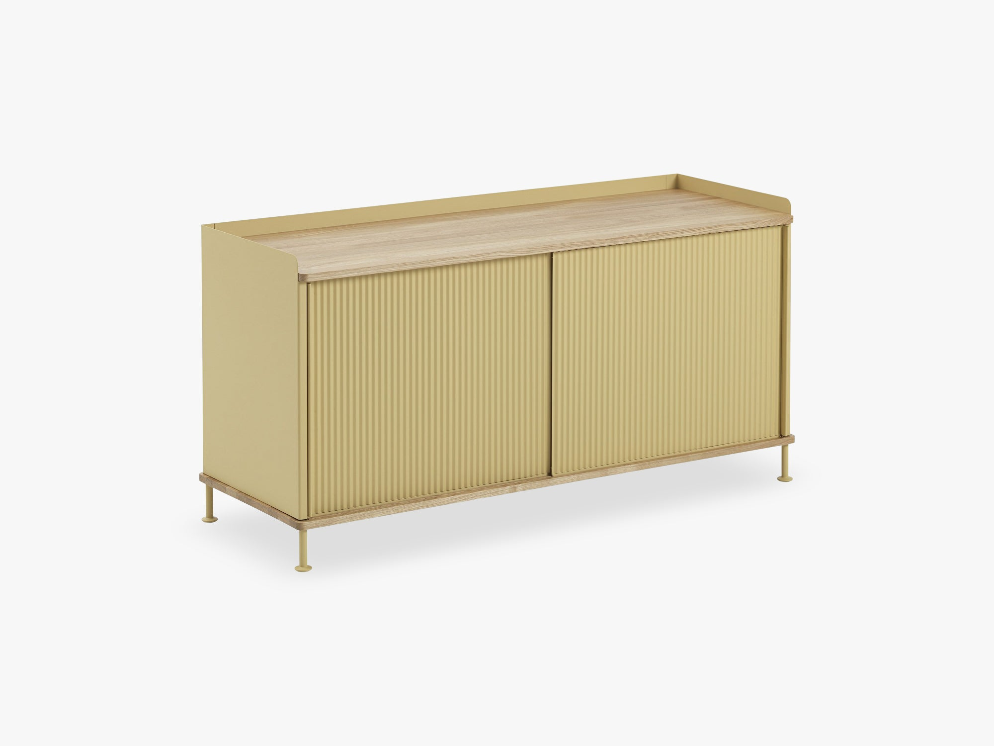 Enfold Sideboard / Low, Oak/Yellow fra Muuto