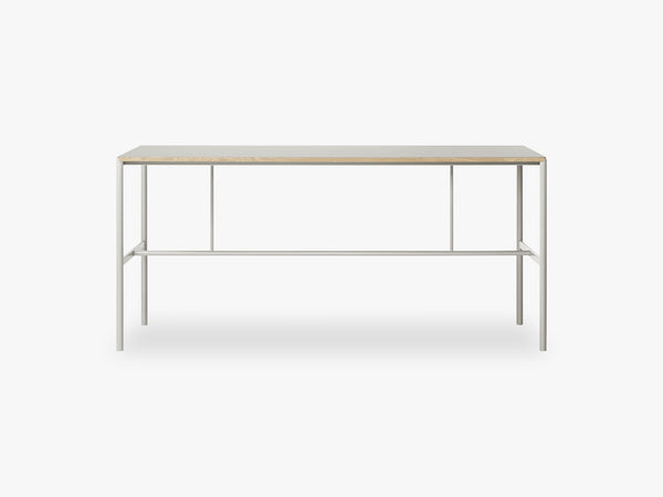 Mies High Table H1, Light Grey/Grey Linoleum Oak fra MILLION