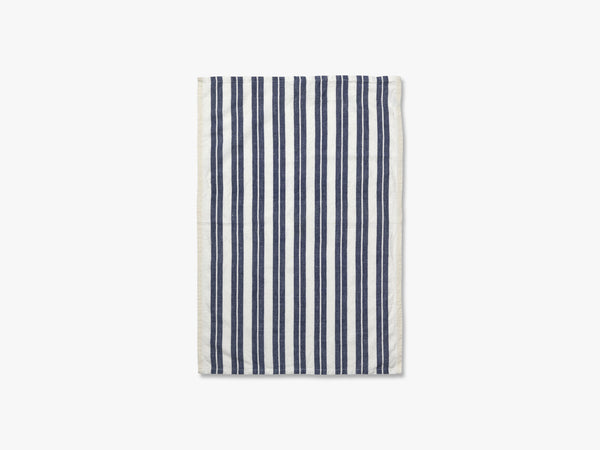 Hale Yarn Dyed Linen Tea Towels, Off-White/Blue fra Ferm Living