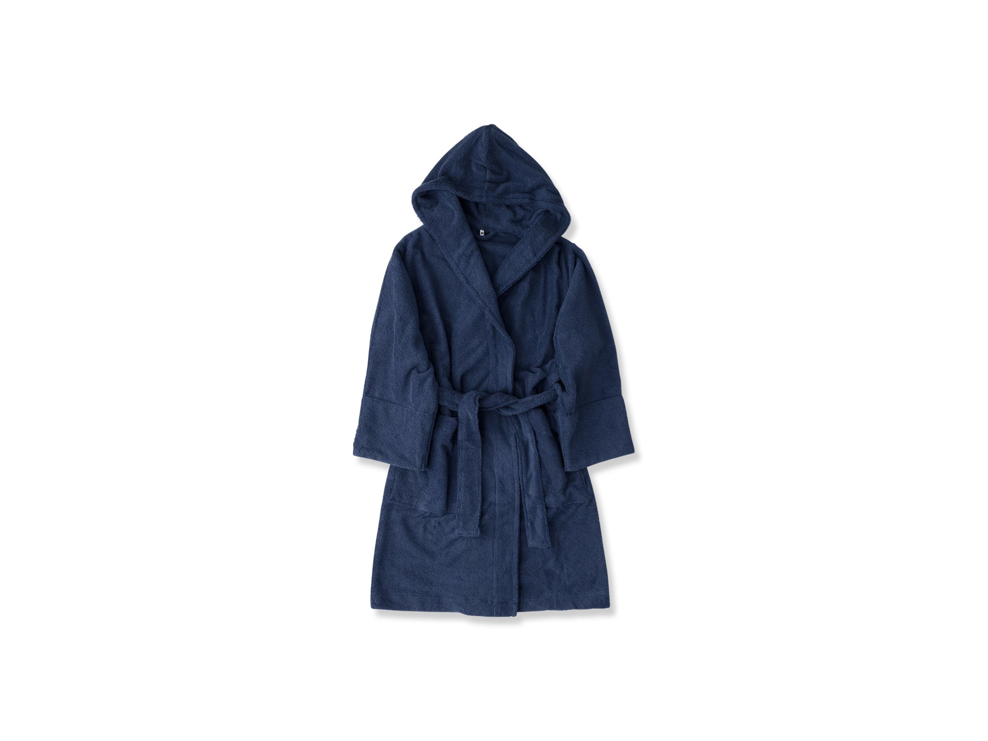 Hooded Bathrobe Bath, Navy fra Tekla Fabrics