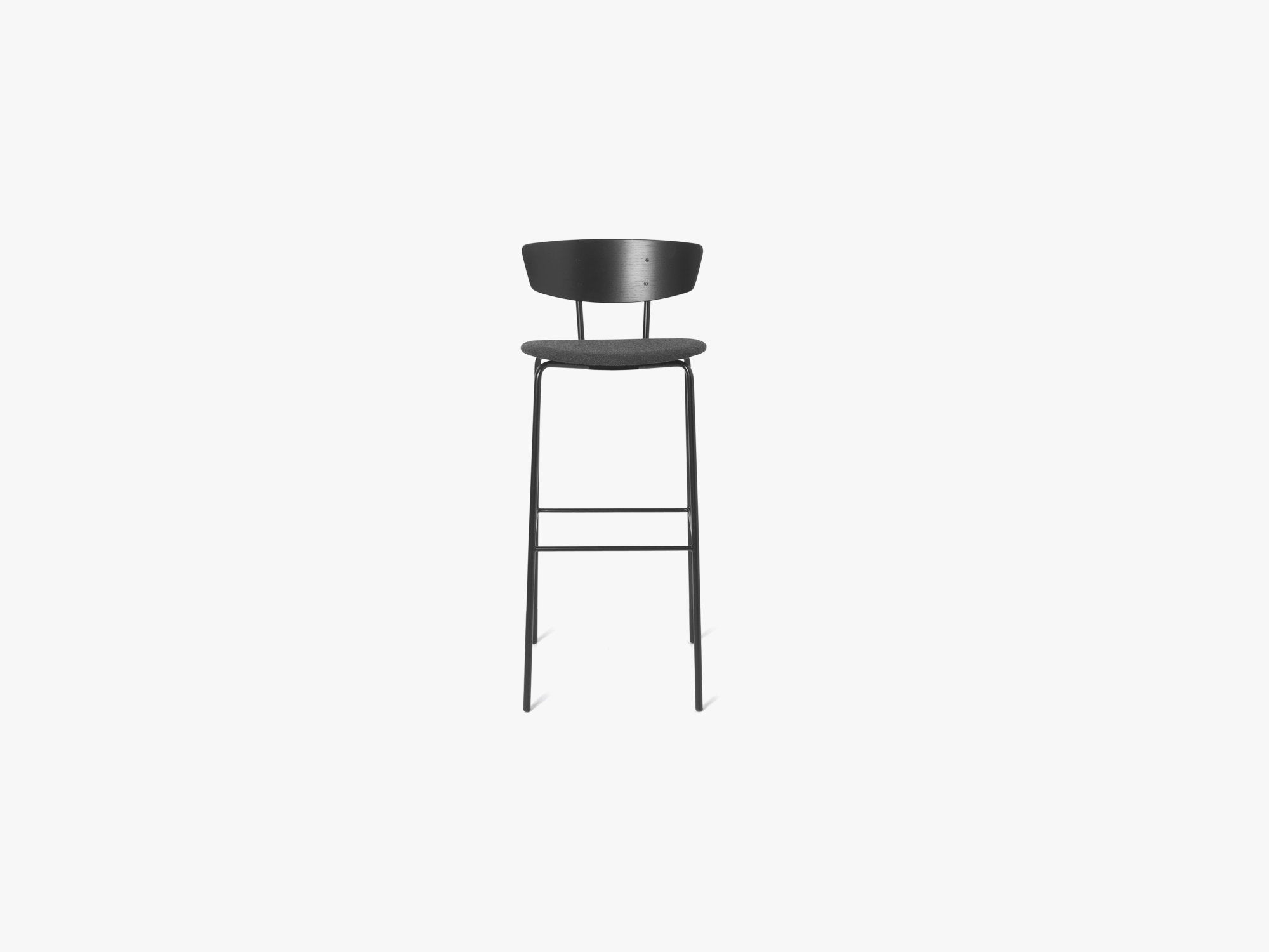 Herman Bar Chair High, Black/Dark Grey fra Ferm Living