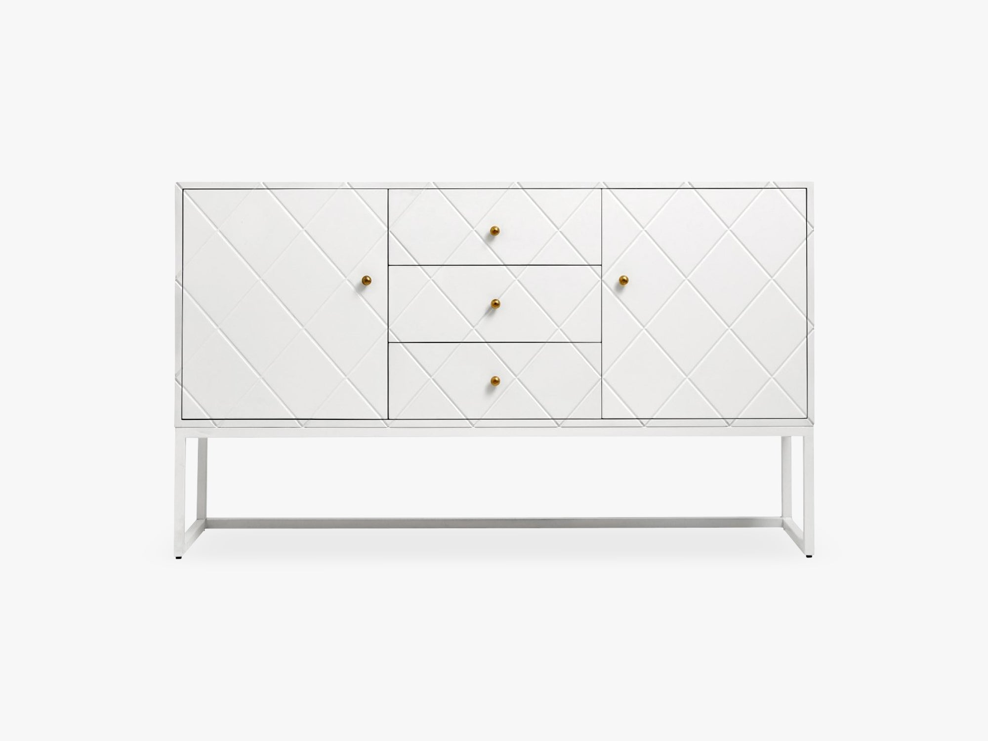 Buffet, white squares, 3 sections, wood fra Nordal