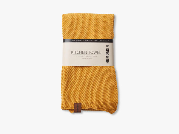 Knitted Kitchen Tea Towels, Yellow fall fra HUMDAKIN