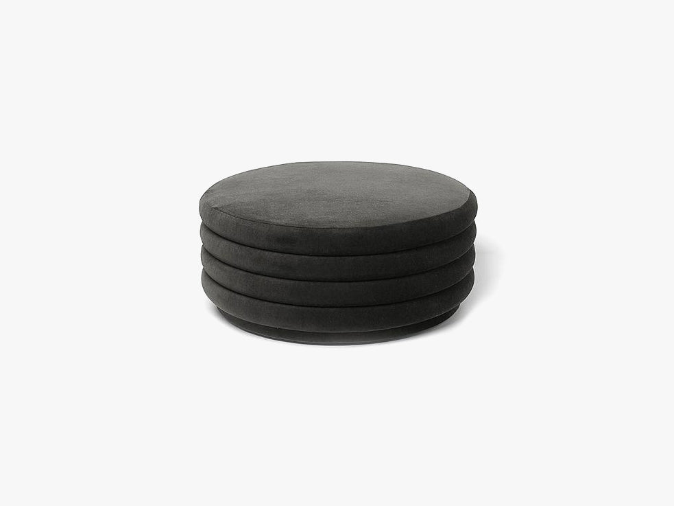 Pouf Round Large, Grey fra Ferm Living