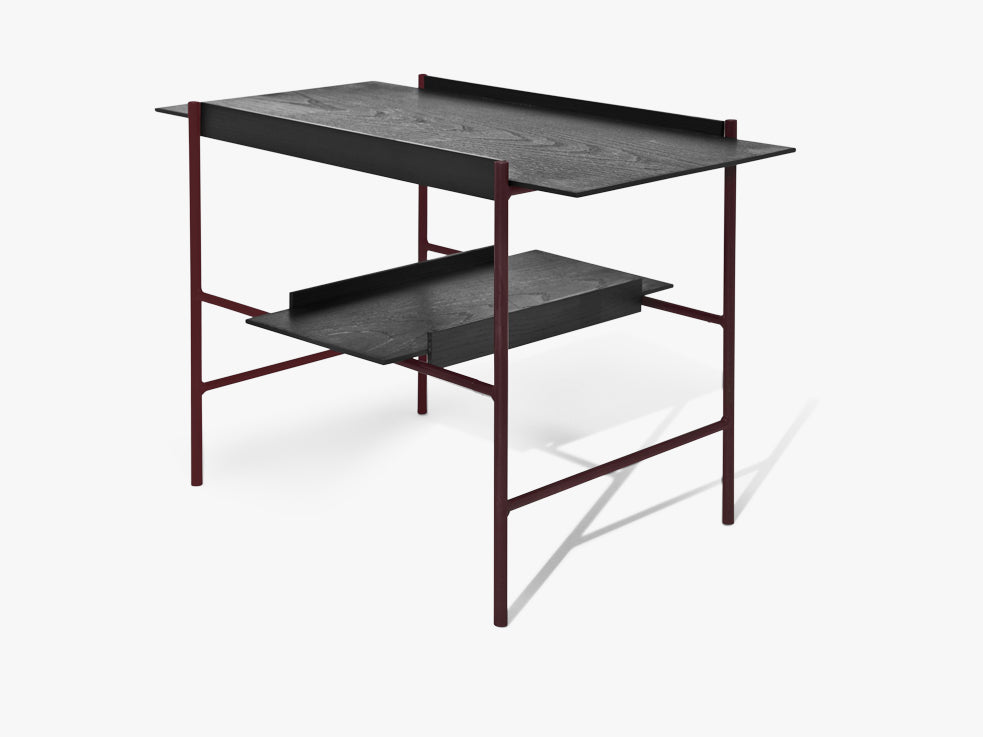 Kanso Tray Table, Black Ash/ Fig Purple fra Please Wait To Be Seated