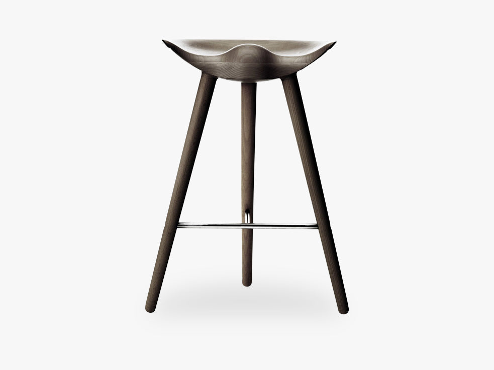 ML 42, counter stool, brown oiled oak / stainless steel fra By Lassen