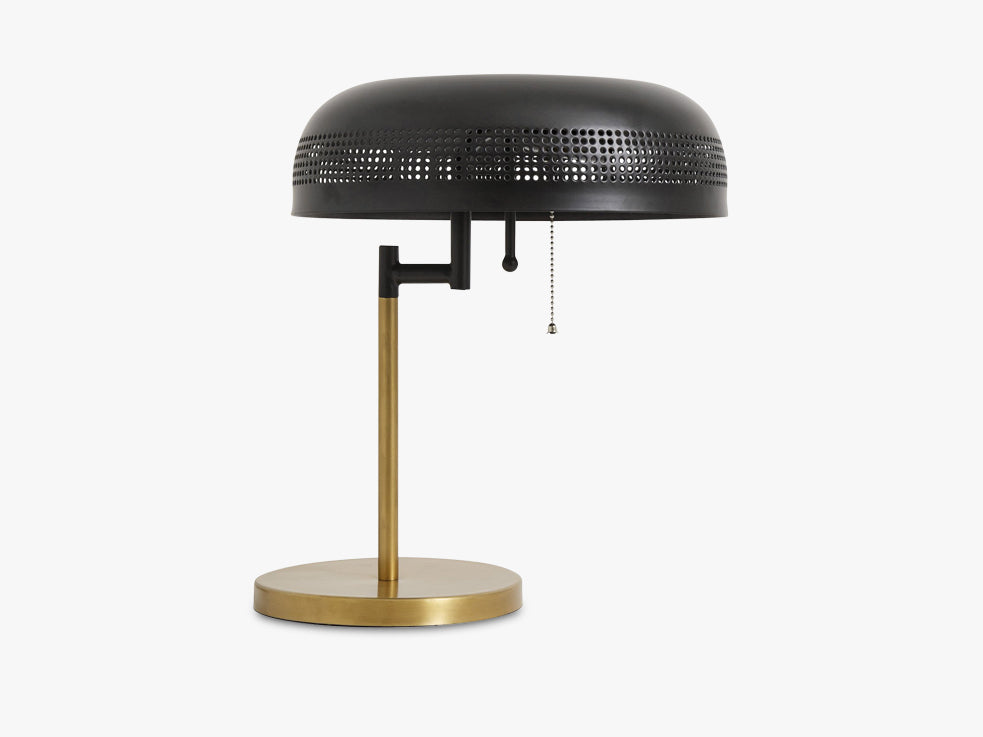 COOL table lamp, black w/brass base fra Nordal
