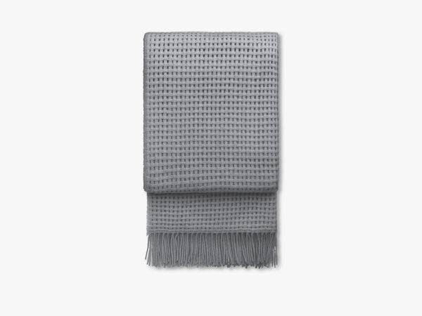 Basket plaid, light grey fra Elvang