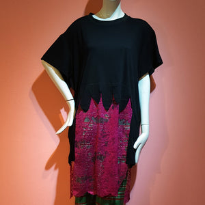 GWEN LACE T-SHIRT DARK PINK