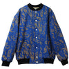 DENIM JACKET WITH GOLD EMBROIDERY