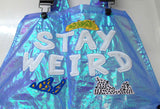STAY WEIRD BACTERIA DUNGAREE LASER BLUE