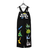 STAY WEIRD BACTERIA DUNGAREE BLACK