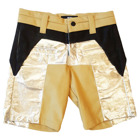 PATCHWORK PANEL SHORTS